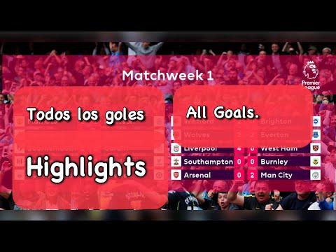 Goles & Estadísticas | Jornada 1 | All Goals & Highlights | Premier League | 12/08/2018 HD