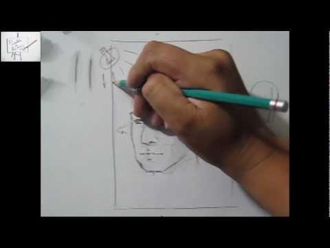 Dibujo e cabeza en 3/4, tips, técnica, tutorial, Realizando un difumino (esfumino) casero