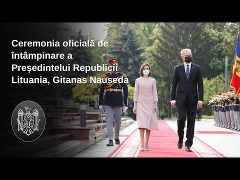 Președintele Republicii Moldova, Maia Sandu, l-a întâmpinat la Chișinău pe Președintele Republicii Lituania, Gitanas Nauseda