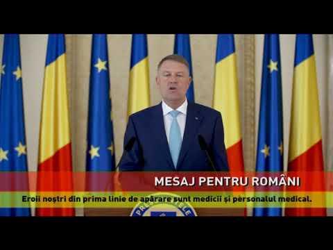 Klaus Iohannis le cere românilor să nu vină acasă de Paşte