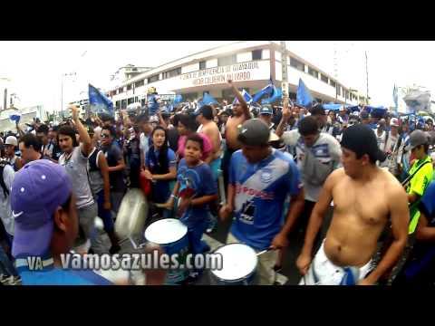 Video - Caminata en Guayaquil por los 85 años de EMELEC (2) - Boca del Pozo - Emelec - Ecuador