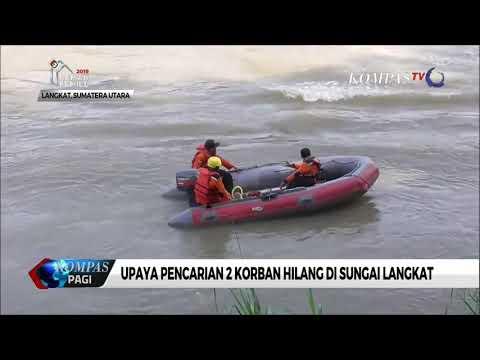 Petugas Terus Upayakan Pencarian 2 Korban Hilang Di Sungai Langkat