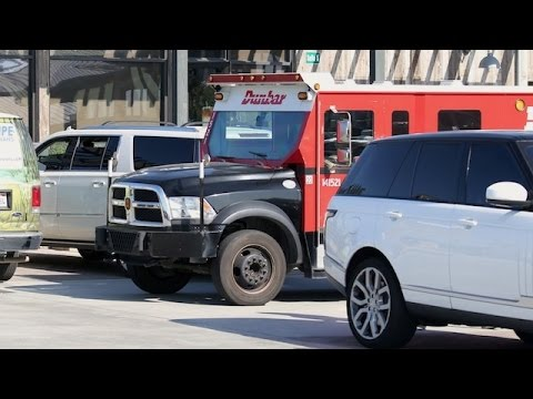 Caitlyn Jenner Blocked In By Armored Truck In Malibu