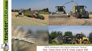 Das Lohnunternehmen Agrar-Service Terhuf zum ersten Mal mit dem neuen Claas Jaguar 960 und dem neuen Claas Axion 870...