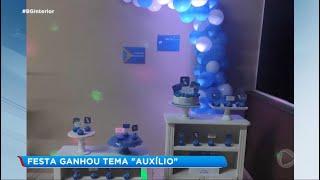 Auxílio emergencial inspira decoração de festa em Sorocaba
