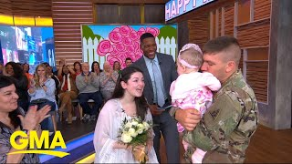 Video Deployed dad meets his baby daughter for the 1st time on 'GMA' l GMA MP3, 3GP, MP4, WEBM, AVI, FLV Juni 2019