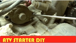 7. ATV How to Remove Starter DIY Arctic Cat 650H1