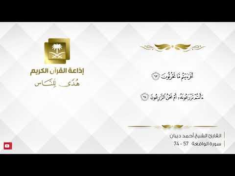 القارئ احمد ديبان - أَفَرَأَيْتُم مَّا تُمْنُونَ