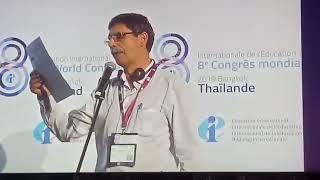 Nilton Brandão denuncia ataques ao ensino público no 8º Congresso Mundial da Educação