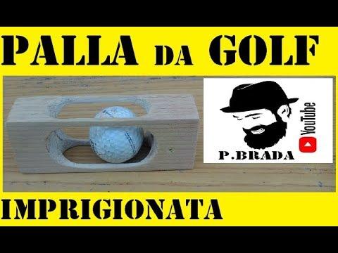 Palla da golf in blocco di legno by Paolo Brada DIY