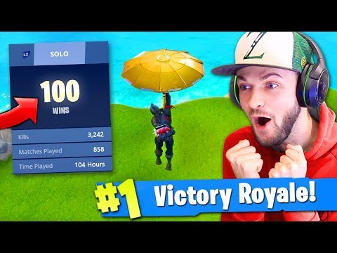 100 WIN *SECRET* UNLOCK in Fortnite: Battle Royale (KILL RECORD)