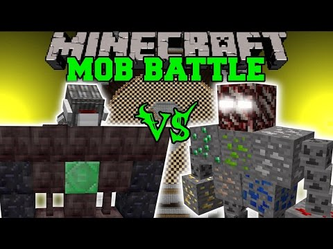 CYCLOPS GOLEM VS ORE BOSS - Minecraft Mob Battles - Minecraft Mods
