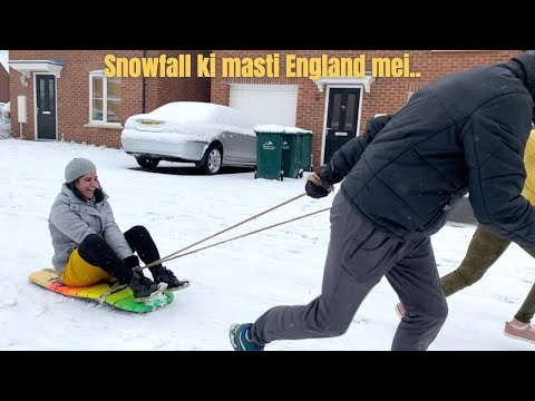 SONIA KI MOTHER SEI MILTE HAI AAJ AND SNOWFALL MASTI BHI| THE SANGWAN FAMILY| INDIANS IN LONDON