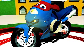 Video Carl Si Truk Super 🚚 ⍟  Truk Sepeda Motor  - truk kartun untuk anak-anak MP3, 3GP, MP4, WEBM, AVI, FLV Januari 2019