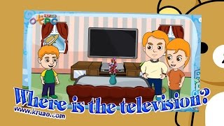 สื่อการเรียนการสอน Where is the television? ป.3 ภาษาอังกฤษ