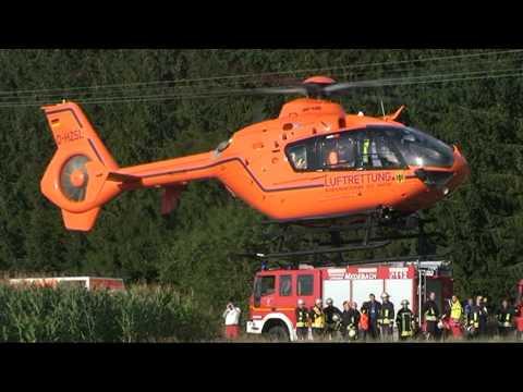 Medebach: Eingeklemmt, Rettungshubschrauber