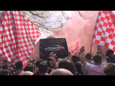 LFC Vs Chelsea Team Bus Welcome