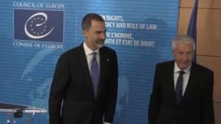 Encuentro de S.M. el Rey con el Sr. Thorbjørn Jagland, Secretario General del Consejo de Europa