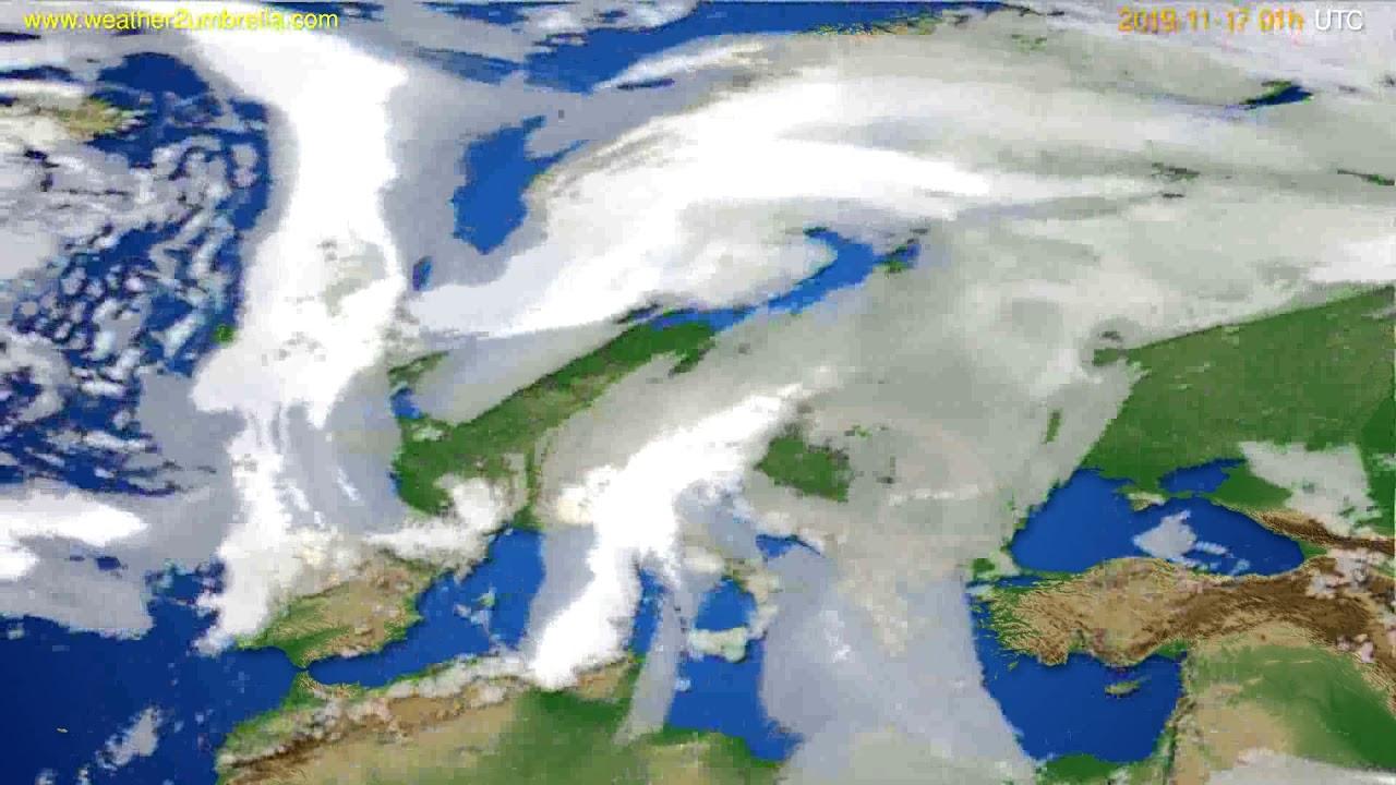 Cloud forecast Europe // modelrun: 00h UTC 2019-11-16