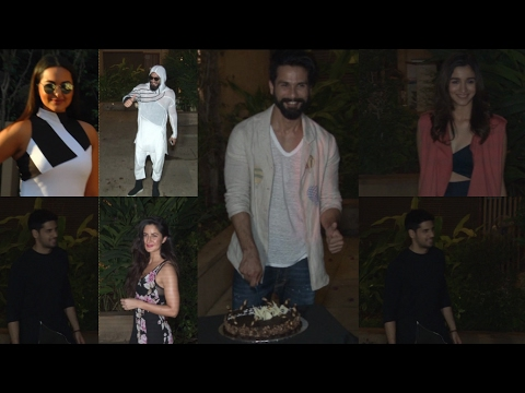 Alia, Katrina, Sidharth Malhotra At Shahid Kapoor's Birthday Bash