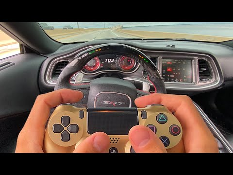 """DRIVING MY HELLCAT WITH A PS4 CONTROLLER """"HOW TO"""""""