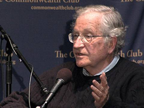 fora.tv - Complete video at: http://fora.tv/2009/10/06/Noam_Chomsky_Philosophies_of_Language_and_Politics