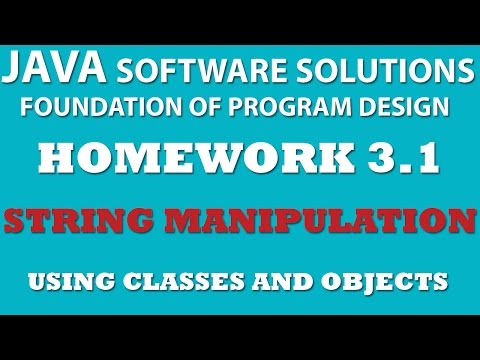 Java: String Manipulation (Ex 3.1) – Using Classes and Objects