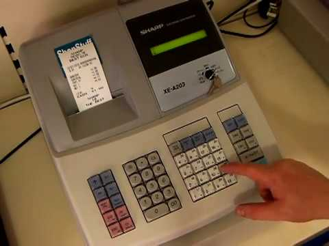 How To Put Your Shop Name On Till Receipt Sharp XE-A203 or XE-A303 Cash Register