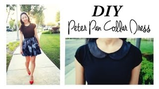 DIY Peter Pan Collar Dress - YouTube
