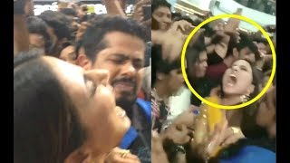 Hina Khan HATERS Pull Her Hair And Misbehave With Her At Bigg Boss 11 Promotion