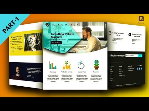 Homepage Design With Bootstrap 4 - Consultant Website - Part-1