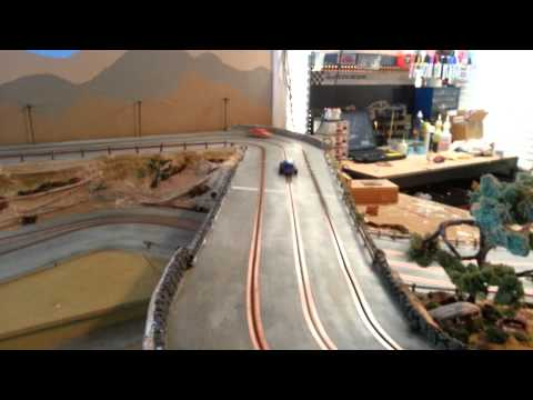 1/32 scale jalopy slot cars on wood track