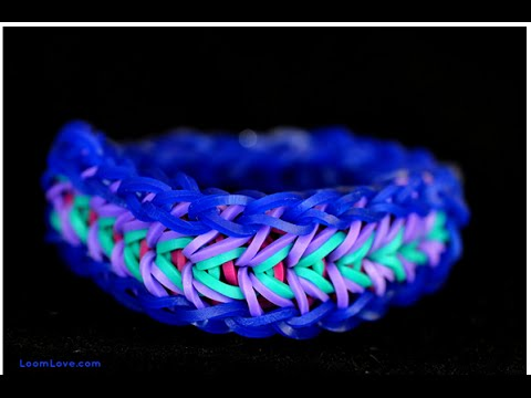 EASY! HOW TO Make Loom band bracelet Design without a Loom!! (RUBBER BAND BRACELETS)