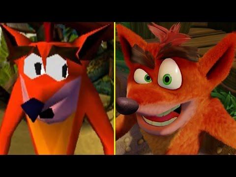 crash bandicoot comparison: original vs n. sane (ps1 vs