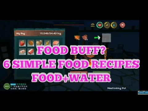UTOPIA ORIGIN: FOOD BUFF? 6 SIMPLE FOOD RECIPES / FOOD + WATER / HOW TO COOK