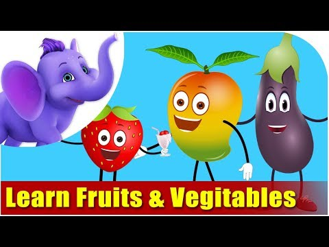 VEGETABLES - This video is designed for your child to watch and learn Fruits & Vegetables the FUN way... This is the best Fruits and Vegetables teaching module, your chil...