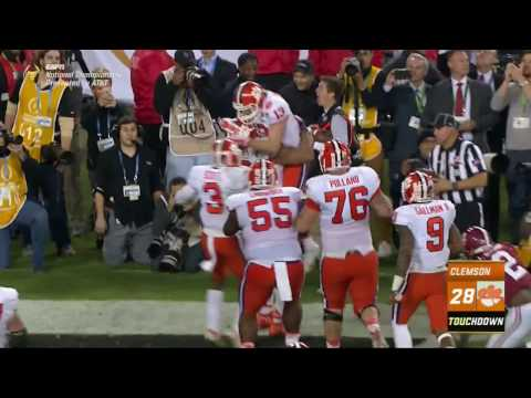 Clemson Shocks Alabama With 1 Second Left to Win National Championship (видео)