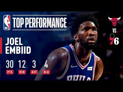 Video: Joel Embiid Drops 30 Pts and 12 Rebs Vs Chicago Bulls | October 18, 2018
