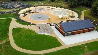 Watford Cassiobury Park hub and Paddling Pools Fountains – Drone Aerial View