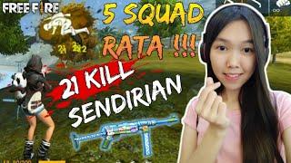 21 KILL SOLO VS SQUAD & PENGUMUMAN GIVEAWAY - FREE FIRE INDONESIA