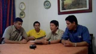 Seminaristas cantan el profeta:Victor Martínez, Jesús Araujo,Luis Manuel Parada,, Oscar Mamani