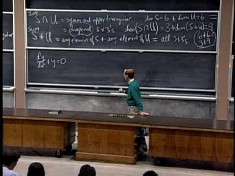 Lec 11 | MIT 18.06 Linear Algebra, Spring 2005