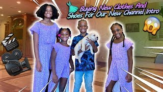 Buying New Clothes And Shoes For The So Cool Family New Channel Intro!