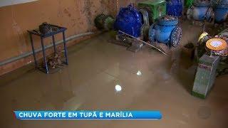 Temporal causa estragos e deixa 60% da população de Marília sem água