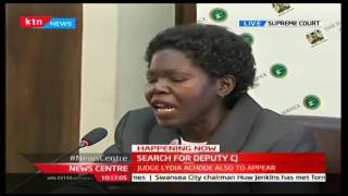HAPPENING NOW: Lawyer Joyce Majiwa being interviewed for the Deputy Chief Justice postion