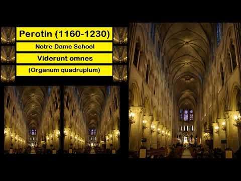 Perotin (1160-1230) - Notre Dame School - Viderunt omnes (Organum quadruplum)