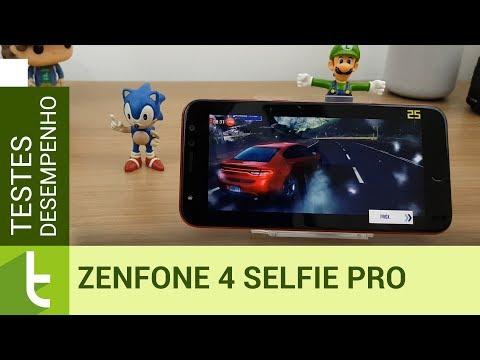 Desempenho do Zenfone 4 Selfie Pro  Teste de velocidade oficial do TudoCelular