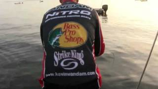 KVD's first catch on day 3 - Toledo Bend