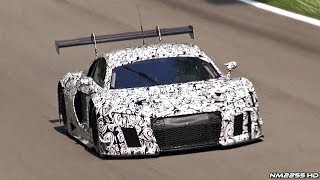 2015 Audi R8 GT3 Testing With Pure V10 Sound!