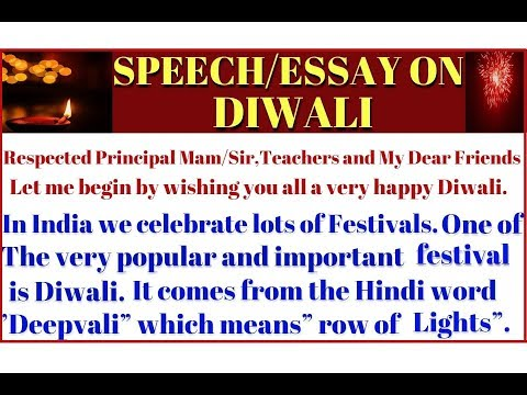Easy Essayspeech On Diwali For Kids In English  Essayspeech On My  Easy Essayspeech On Diwali For Kids In English  Essayspeech On My  Favourite Festival  Diwali